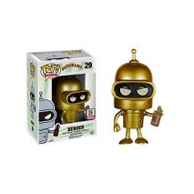Funko Pop Collection Futurama Gold Bender SDCC 2015 0849803056278 0