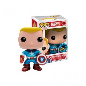 Funko Figurine Marvel Captain America Metallic Unmasked Pop 10cm 0849803043551 0