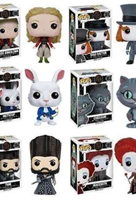 Funko-POP-Alice-Through-The-Looking-Glass-Alice-Kingsleigh-Mad-Hatter-McTwisp-Time-Iracebeth-Chessur-Vinyl-Figure-Set-NEW-0