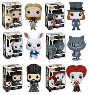 Funko POP Alice Through The Looking Glass Alice Kingsleigh Mad Hatter McTwisp Time Iracebeth Chessur Vinyl Figure Set NEW 0