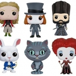 Funko POP Alice Through The Looking Glass Alice Kingsleigh Mad Hatter McTwisp Time Iracebeth Chessur Vinyl Figure Set NEW 0 3