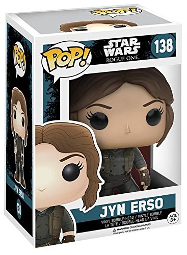 Star-Wars-Rogue-One-Jyn-Erso-Vinilo-Bobble-Head-138-Figura-de-coleccin-0